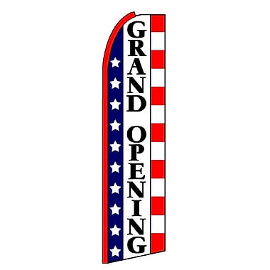 NeoPlex Grand Opening Stars and Stripes Swooper Flag