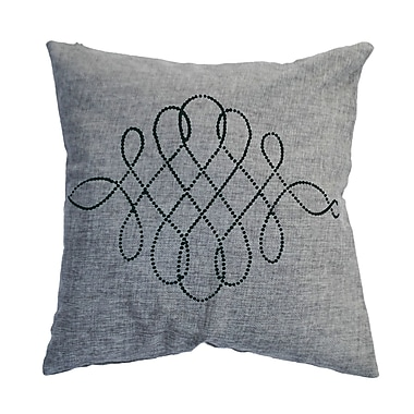 Sparkles Home Rhinestone Swirl Throw Pillow; Sand