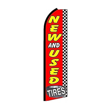 NeoPlex New and Used Tires Checkered Swooper Flag