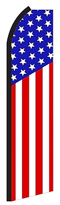 NeoPlex USA Vertical Stripes Star Top Swooper Flag