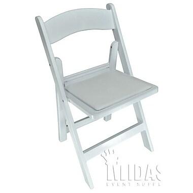 Midas Event Supply Revolution Folding Chair; White