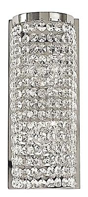 Framburg Princessa 2-Light Wall Sconce; Polished Silver
