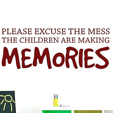 SweetumsWallDecals Children Making Memories Wall Decal; Cranberry