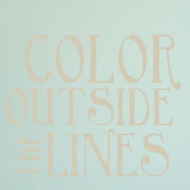 SweetumsWallDecals Color Outside The Lines Wall Decal; Light Beige