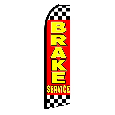 NeoPlex Brake Service Checkered Swooper Flag