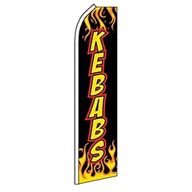 NeoPlex Kebabs Flames Swooper Flag