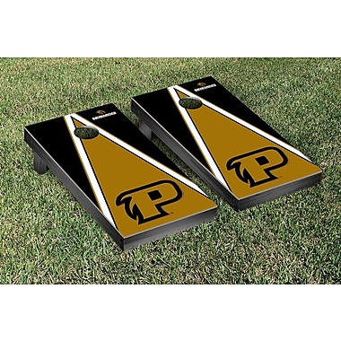 Victory Tailgate NCAA Triangle Version Cornhole Game Set; Purdue University Calumet Peregrines