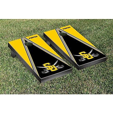Victory Tailgate NCAA Triangle Version Cornhole Game Set; Southwestern University Pirates