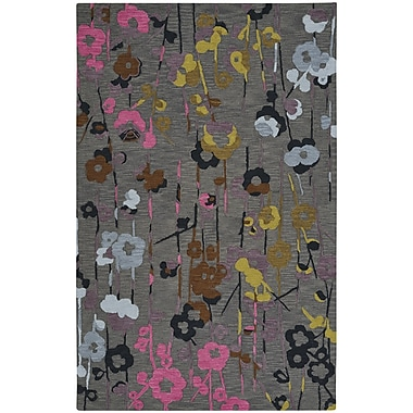 Capel Branch Hand-Tufted Smoke Area Rug; 8' x 11'