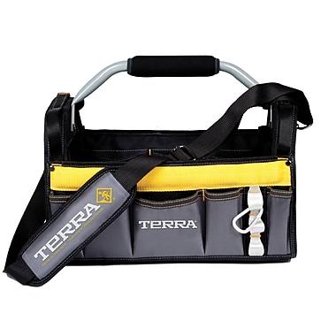 Terra – Sac à outils avec ouverture de 16 po, noir