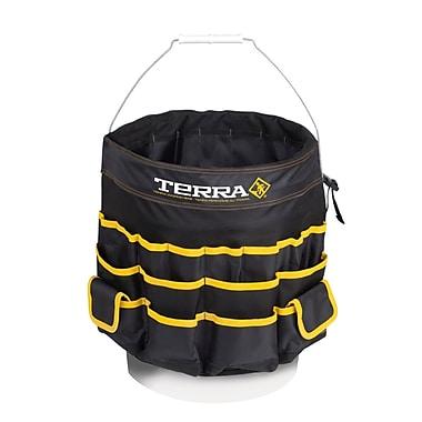 Terra – Sac à outils style jupe pour seau, noir