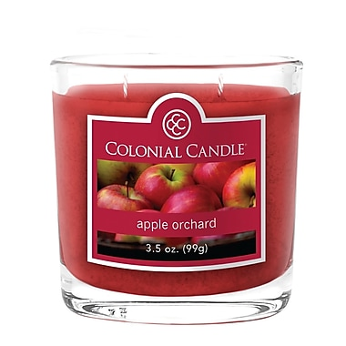 Colonial Candle 3.5 oz. Oval Jar, Apple Orchard, 2/Pack (CC0351135)
