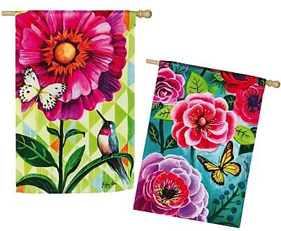 Evergreen Enterprises, Inc Flower Burst Garden Flag