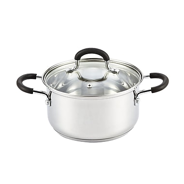 Cook N Home Stainless Steel Stock Pot w/ Lid; 2.7 Quart