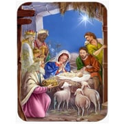 Caroline's Treasures The Wise Men at the Nativity Christmas Glass Cutting Board