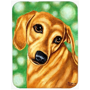 Caroline's Treasures The Eyes Have It Dachshund Glass Cutting Board