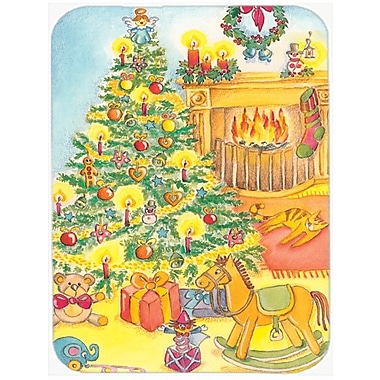Caroline's Treasures Toys around the Christmas Tree Glass Cutting Board