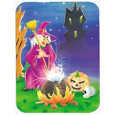 Caroline's Treasures Witch and Her Castle Glass Cutting Board