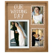 Malden Our Wedding Day Burlap Picture Frame