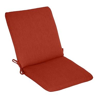 Wildon Home Outdoor Sunbrella High Back Cushion; Henna