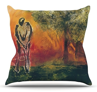 KESS InHouse Par by Josh Serafin Throw Pillow; 16'' H x 16'' W