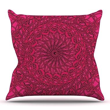KESS InHouse Mandala Spin Berry by Patternmuse Throw Pillow; 20'' H x 20'' W