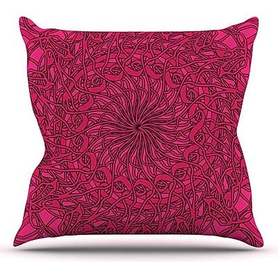 KESS InHouse Mandala Spin Berry by Patternmuse Throw Pillow; 26'' H x 26'' W