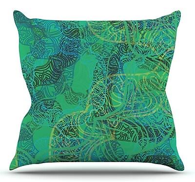 KESS InHouse Mandala by Patternmuse Throw Pillow; 16'' H x 16'' W