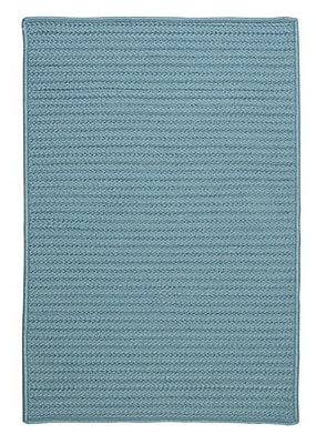 Colonial Mills Simply Home Solid Blue Indoor/Outdoor Area Rug; Runner 2' x 12'