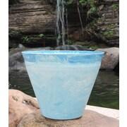 Griffith Creek Designs Nile Fiber Clay Pot Planter; 10.63'' H x 14.57'' W x 14.57'' D