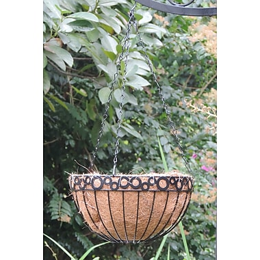 Griffith Creek Designs Odela Metal Hanging Planter; 8.25'' H x 16'' W x 16'' D