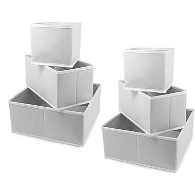 GGI International Sorbus 6 Piece Storage Box Set; White