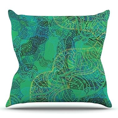KESS InHouse Mandala by Patternmuse Throw Pillow; 26'' H x 26'' W