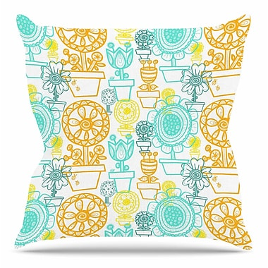 KESS InHouse Potted Florals by Jane Smith Throw Pillow; 26'' H x 26'' W