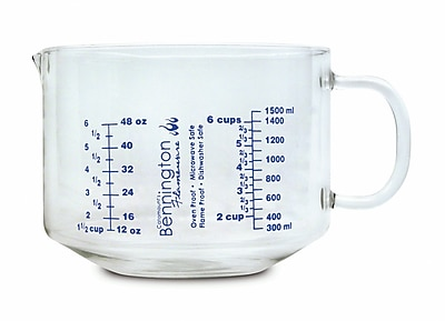 Catamount Glass 6 Cup Glass Measuring Cup WYF078278938462