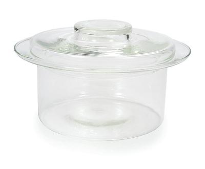 Catamount Glass 0.5-Qt. Glass Round Souffle Dish; 4.13'' H x 8.25'' W x 8.25'' D WYF078278938474