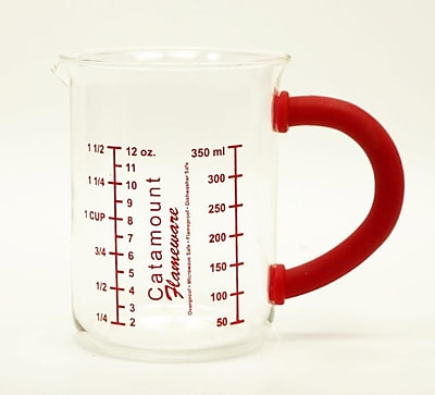 Catamount Glass Glass Measuring Cup w/ Handle; Red WYF078278938475