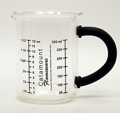 Catamount Glass Glass Measuring Cup w/ Handle; Black WYF078278938476