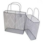 Sagebrook Home 2 Piece Metal Basket Set
