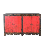TaranDesigns Auro Sideboard; Antique Red