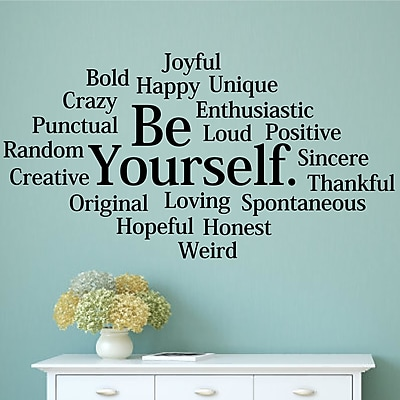 Enchantingly Elegant Be Yourself Wall Decal; 22'' H x 42'' W x 1'' D
