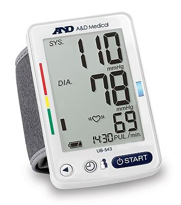 A&D Medical Premium Wrist Pressure Monitor (UB-543)