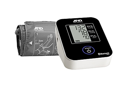 A&D Medical Wireless Bluetooth Upper Arm Blood Pressure Monitor (UA-651BLE)