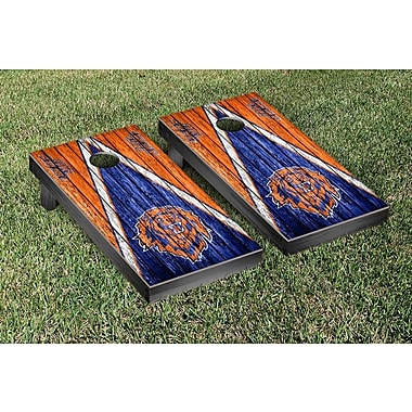 Victory Tailgate NAIA Triangle Weathered Version Cornhole Game Set; Lincoln Lions