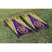 Victory Tailgate NAIA Triangle Weathered Version Cornhole Game Set; Carroll Saints