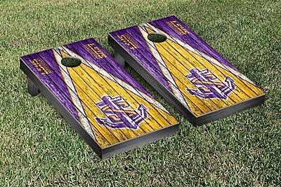 Victory Tailgate NAIA Triangle Weathered Version Cornhole Game Set; Shreveport Pilots