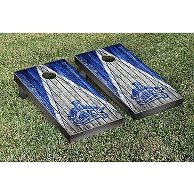Victory Tailgate NAIA Triangle Weathered Version Cornhole Game Set; Bethel College Pilots