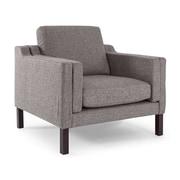 Kardiel Monroe Mid Century Modern Arm Chair; Deco Grey