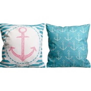 Island Girl Home Amelia Anchor Insignia Throw Pillow