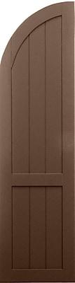 Shutters By Design Rockbridge Framed Board and Batten Arch Top Shutter (Set of 2); 55'' H x 15'' W